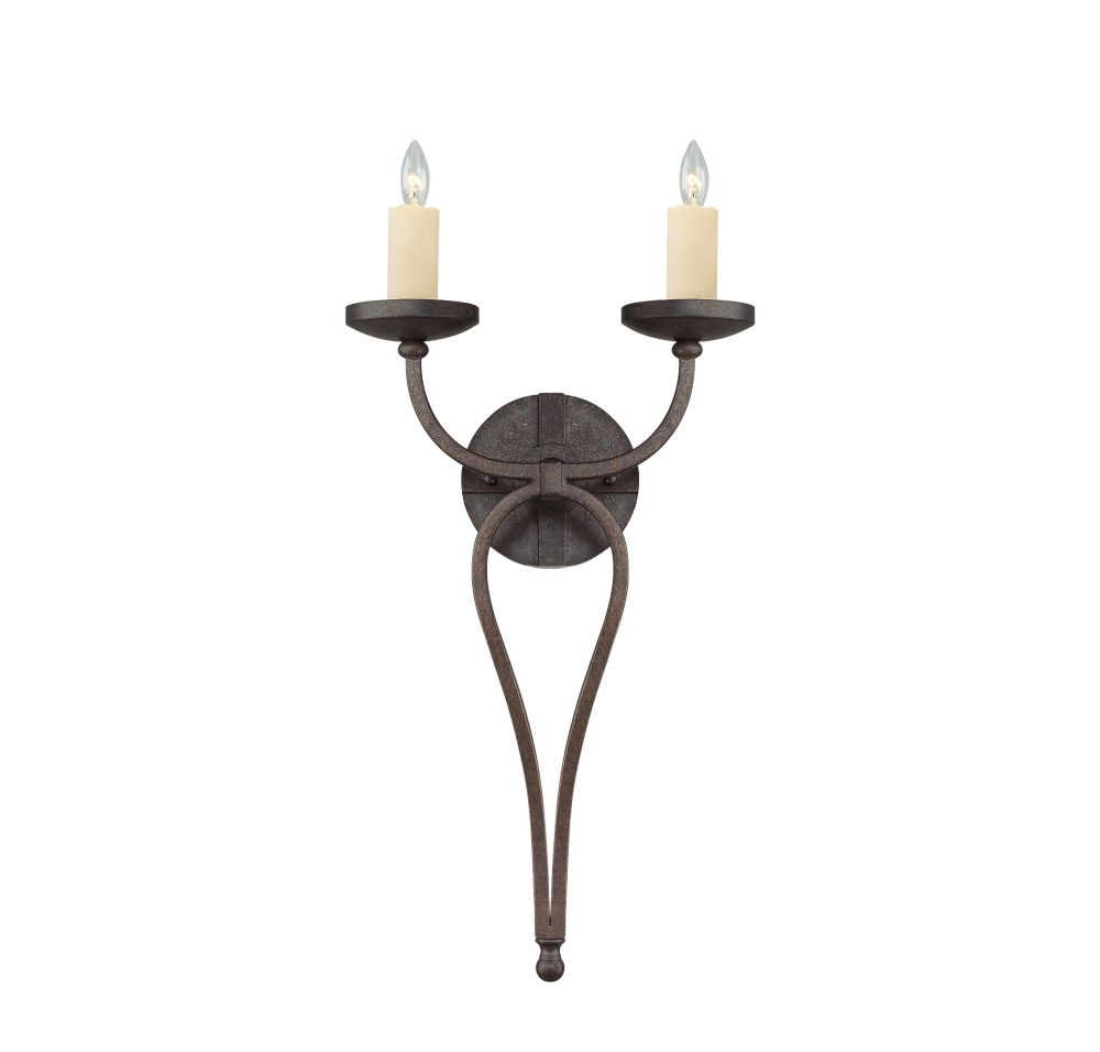 Satin 2 Light Bronze Incandescent Wall Sconce