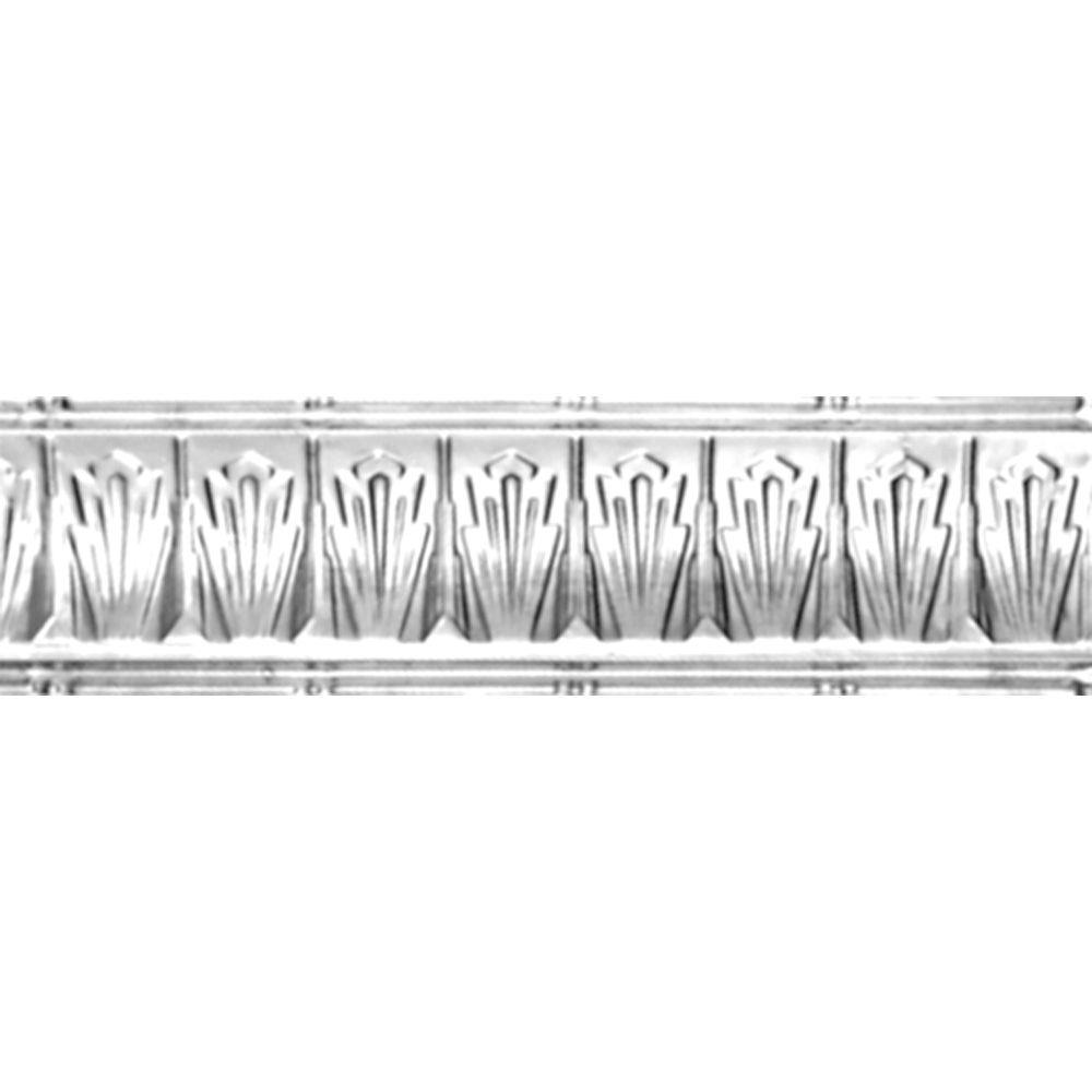 Corniche en acier laqué, 2,5 po en saillie x 2,5 po profondeur x 4 pi longueur
