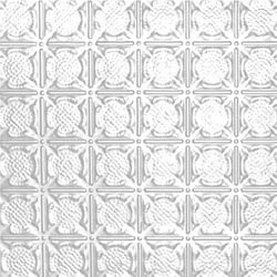 Shanko 2 Feet x 4 Feet White Finish Steel Nail-Up Ceiling Tile Design Repeat Every 3 Inches