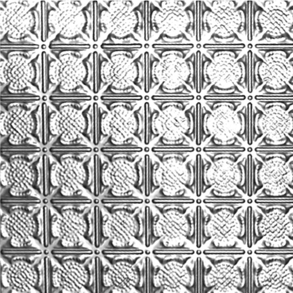 Carreau de plafond en acier laqué à motif répété aux 3 pouces et installation encastrée 2 pi x 2 ...