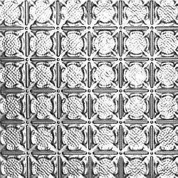 Shanko Carreau de plafond en acier laqué à motif répété aux 3 pouces et installation encastrée 2 pi x 2 pi
