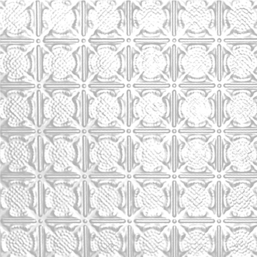 Carreau de plafond en acier blanchi à motif répété aux 3 pouces et installation encastrée 2 pi x ...