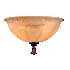 Satin 2 Light Bronze Incandescent Fan Light Kit With White Glass