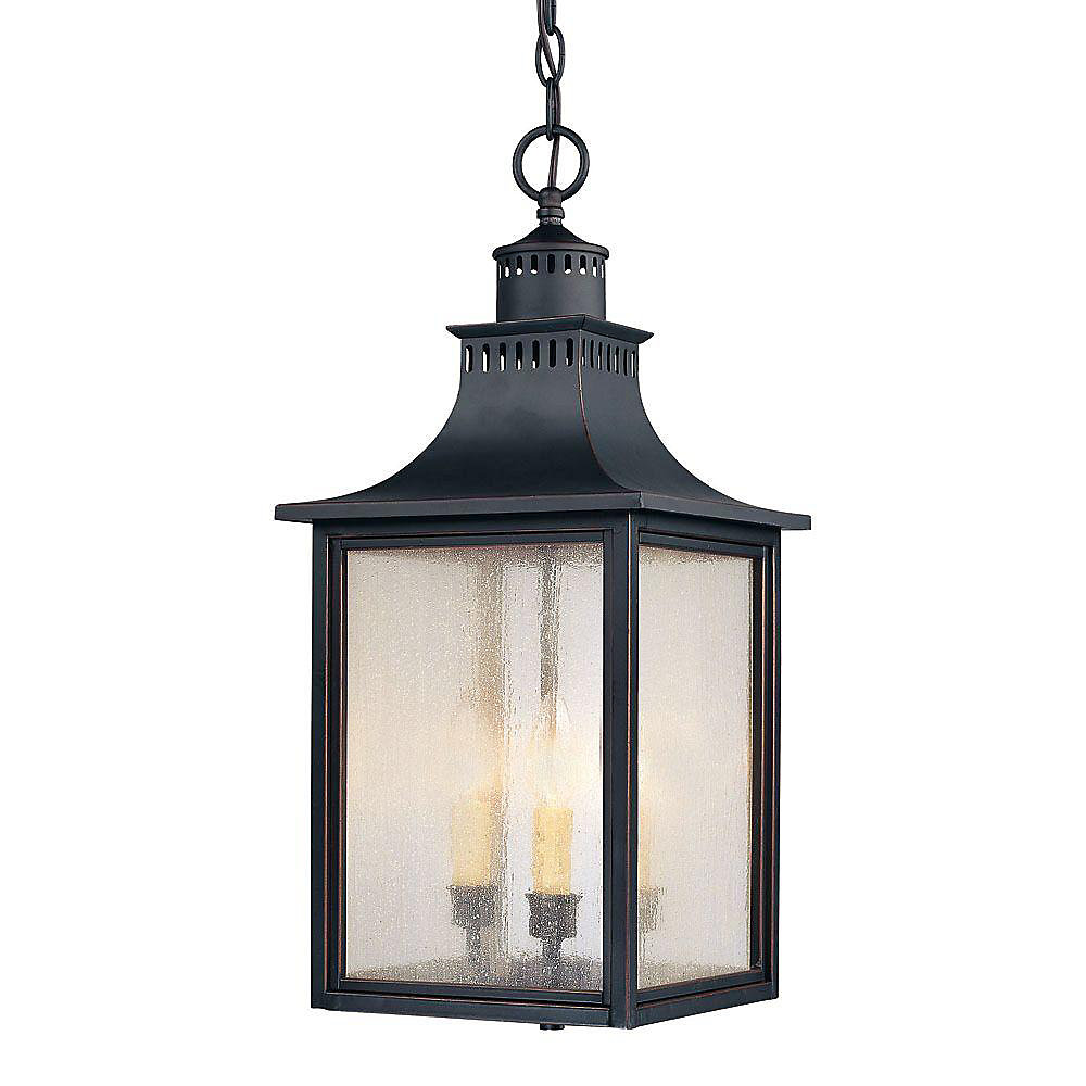 Satin 3 Light Black Incandescent Outdoor Post Lantern With White Glass