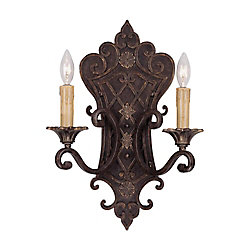 Illumine Satin 2 Light Bronze Incandescent Wall Sconce
