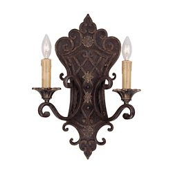 Illumine Satin 2 Light Bronze Incandescent Wall Sconce