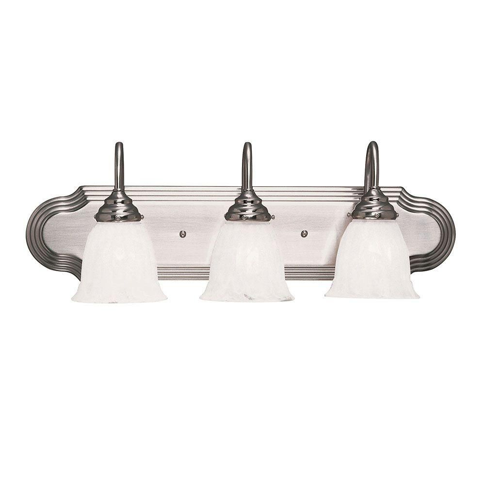 Illumine Satin 3-Light Nickel Bath Bar