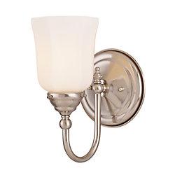 Illumine Satin 1 Light Nickel Incandescent Wall Sconce