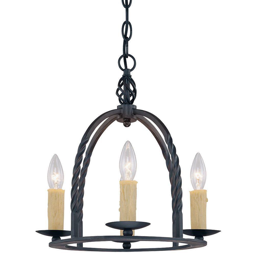 Satin 4 Light Black Incandescent Chandelier