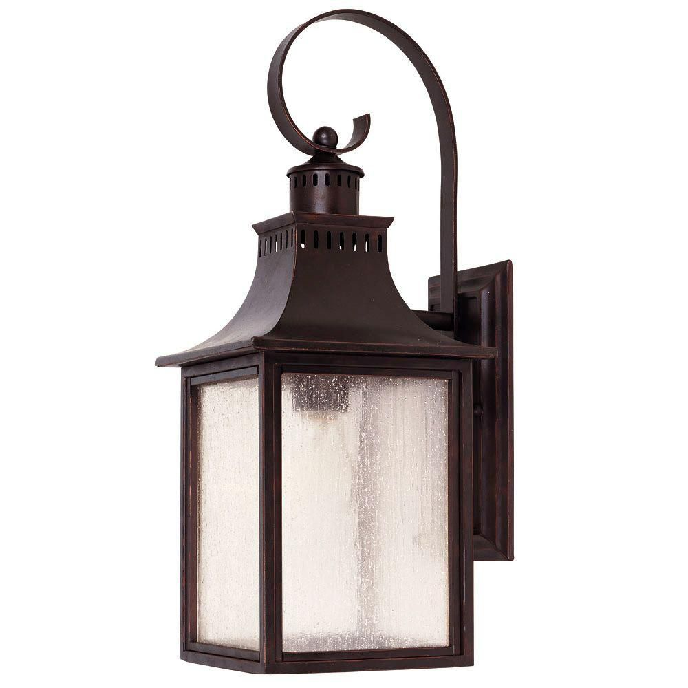 Satin 4 Light Bronze Halogen Outdoor Wall Mount With White Glass