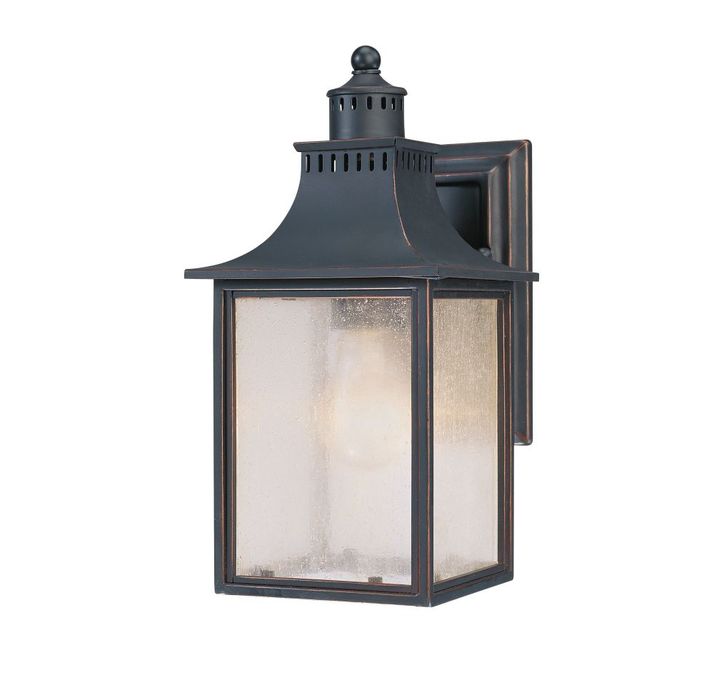Satin 1 Light Black Incandescent Outdoor Wall Mount With White Glass