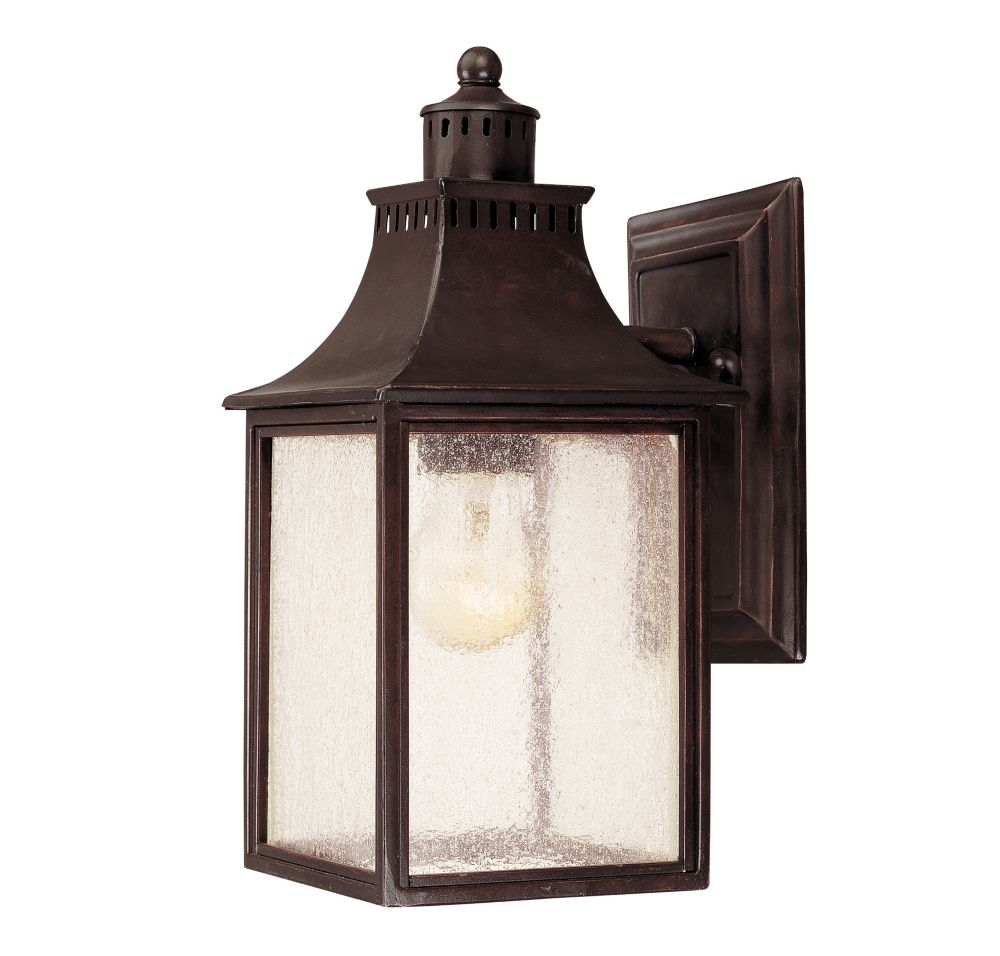 Satin 1 Light Bronze Incandescent Outdoor Wall Mount With White Glass