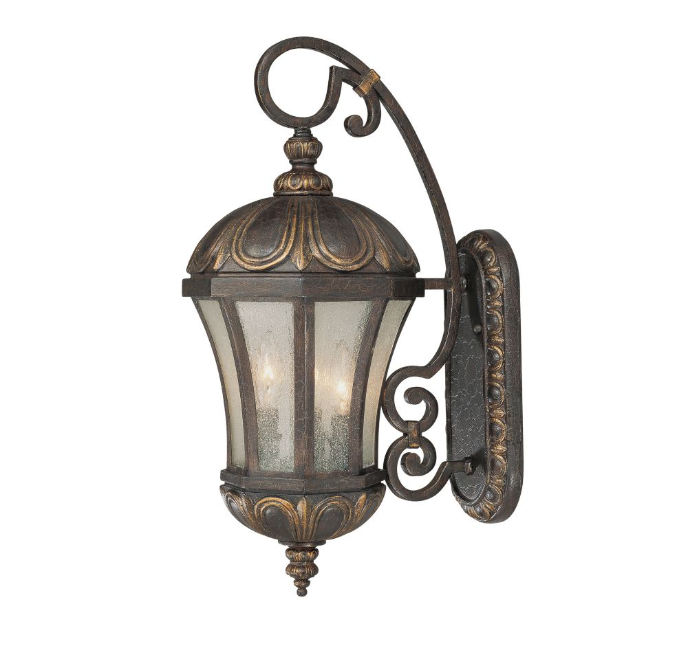 Satin 3 Light Black Halogen Outdoor Wall Mount With White Glass