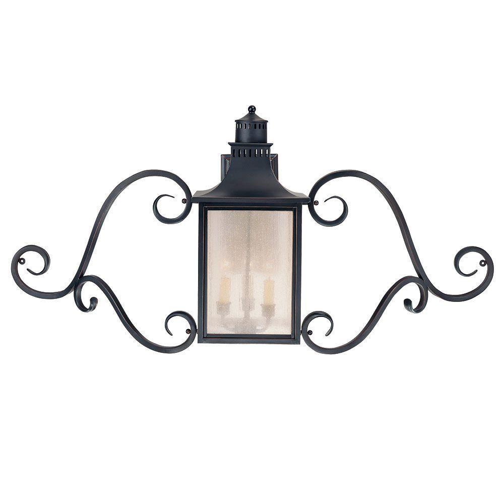 Lanterne d'applique Monte Grande avec spirale décorative