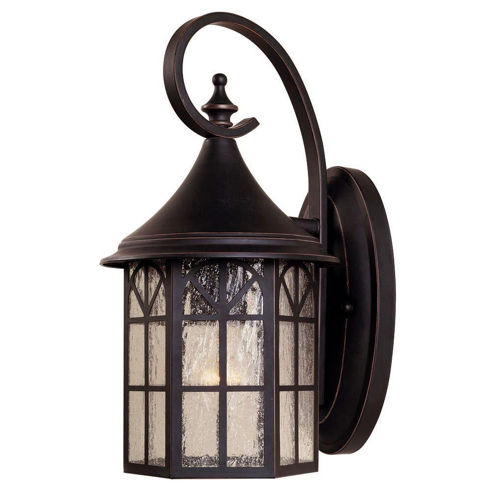 Satin 1-Light Black Outdoor Wall Mount with White Glass
