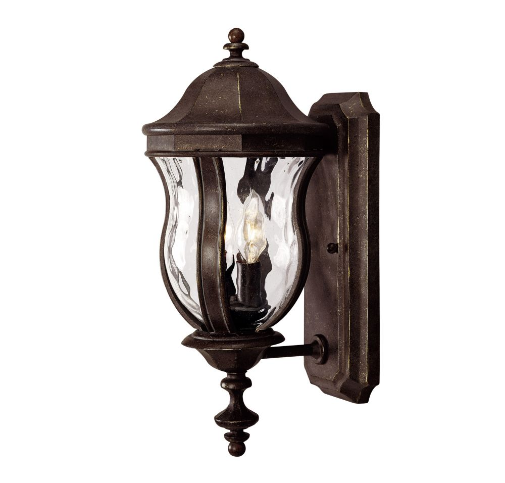 Satin 2 Light Bronze Halogen Outdoor Wall Mount With Clear Glass