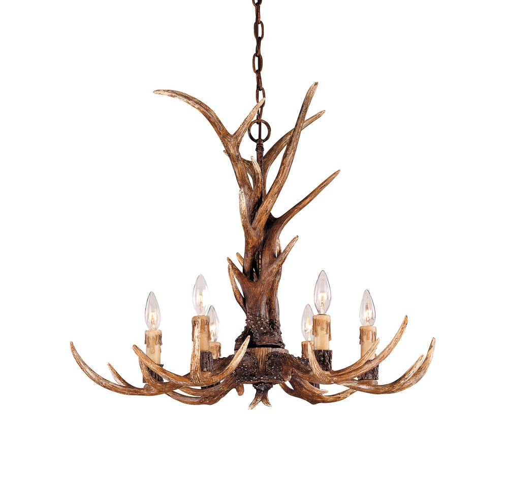 Satin 6-Light Bronze Chandelier