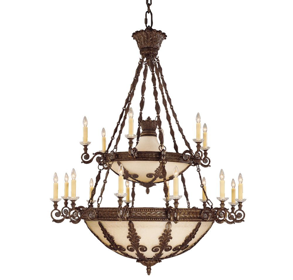 Satin 18-Light Bronze Chandelier
