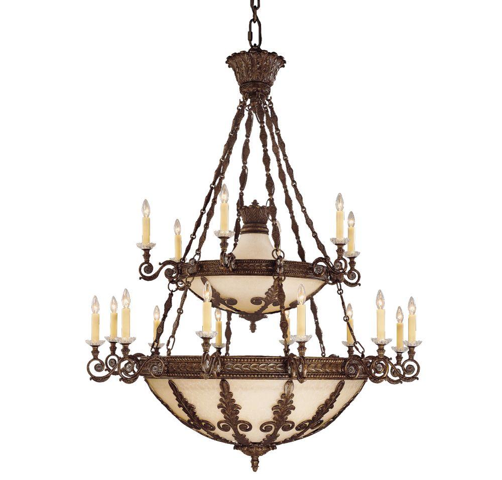Satin 18-Light Bronze Chandelier
