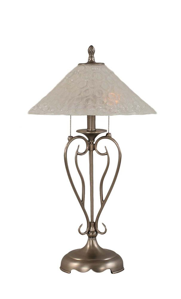 Concord 16 in Brushed Nickel Table Lamp with a Clear Crystal Glass