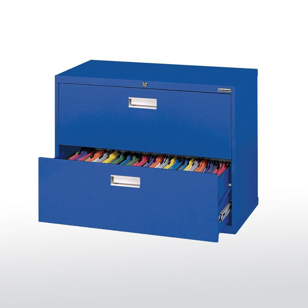 600 Series 2 Drawer Lateral File Blue Color LF6A362-06 Canada Discount