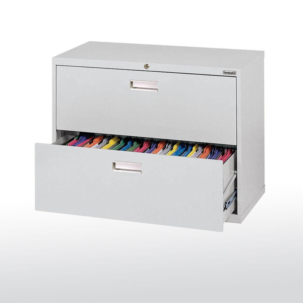 600 Series 2 Drawer Lateral File Dove Gray Color