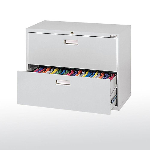 sandusky 600 series 36-inch x 28.38-inch x 19.25-inch 2-drawer metal 2 drawer metal file cabinet