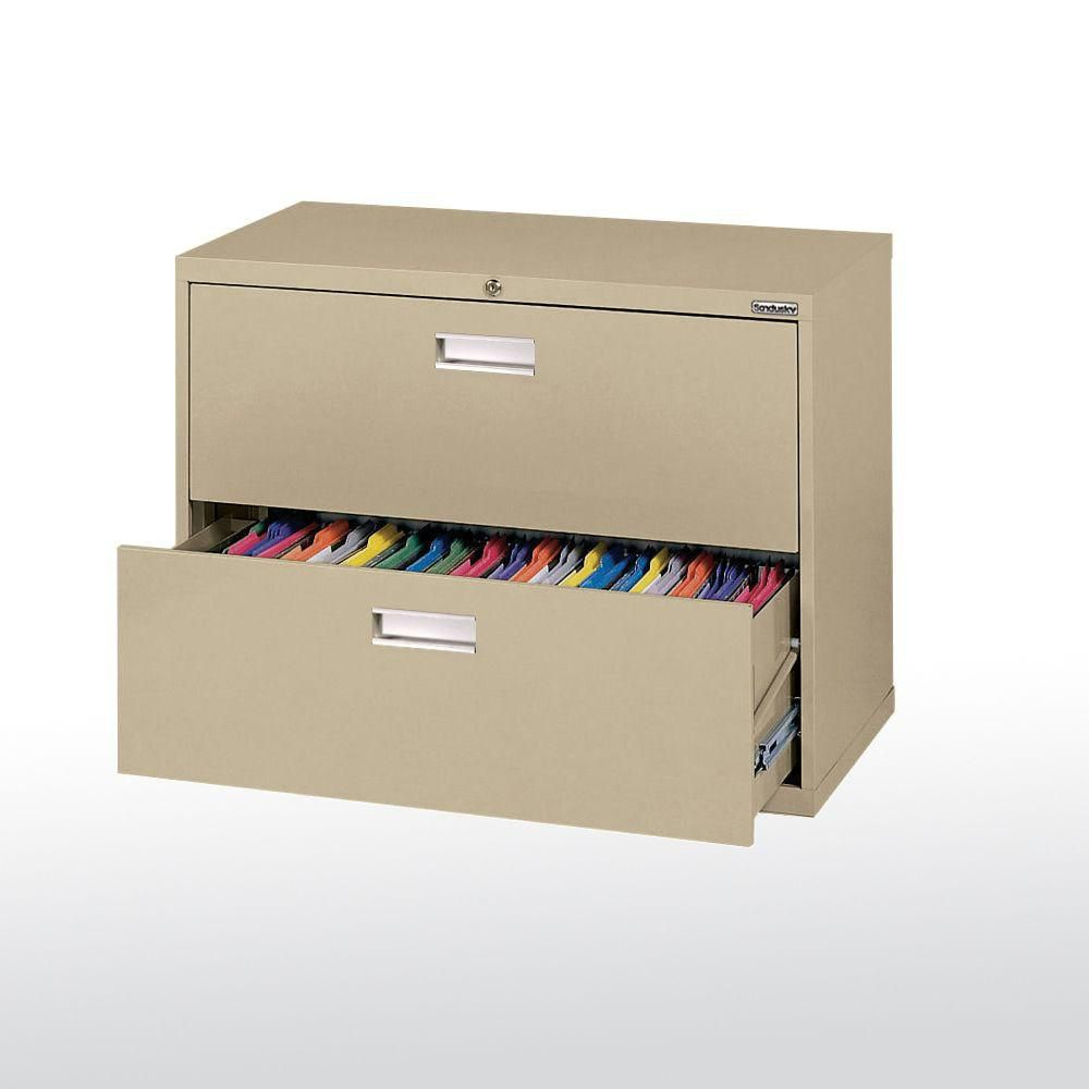 600 Series 2 Drawer Lateral File Tropic Sand Color LF6A362-04 Canada Discount