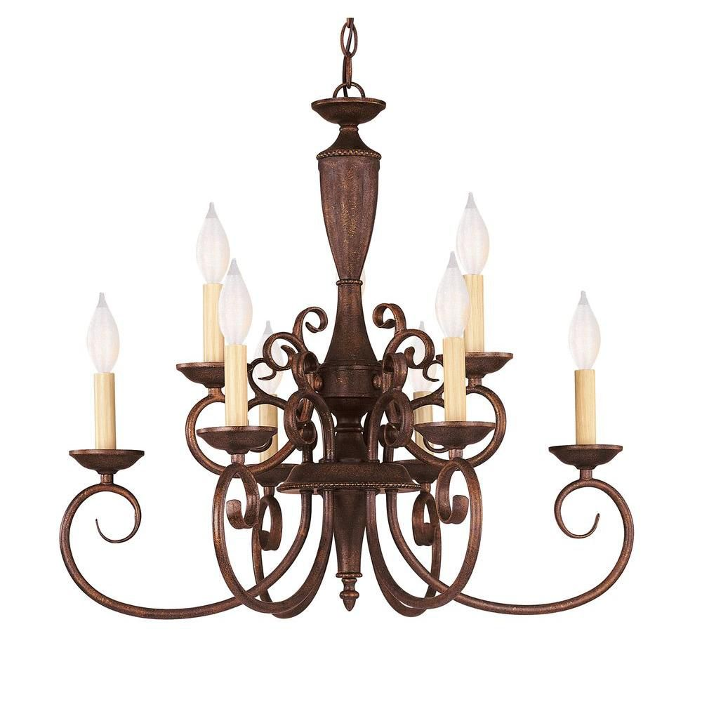 Satin 9-Light Bronze Chandelier