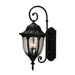 Illumine Satin 2 Light Black Halogen Outdoor Wall Mount With Clear Glass