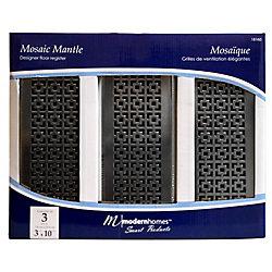 Modern Homes Trio de grilles de ventilation 3x10 Mosaic Mantle