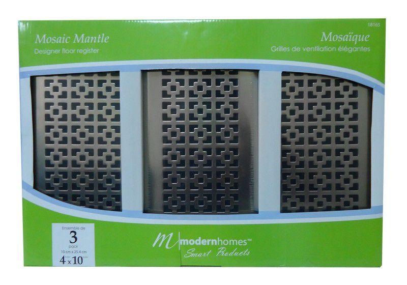 Trio de grilles de ventilation 4x10 Mosaic Mantle