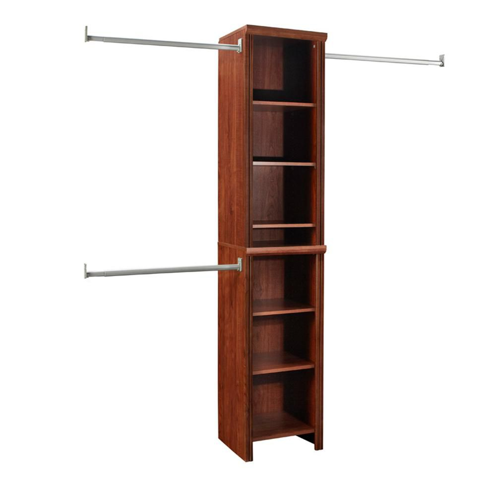 in premier p closet stewart organizers martha systems living x white kit home tower h classic depot w wood