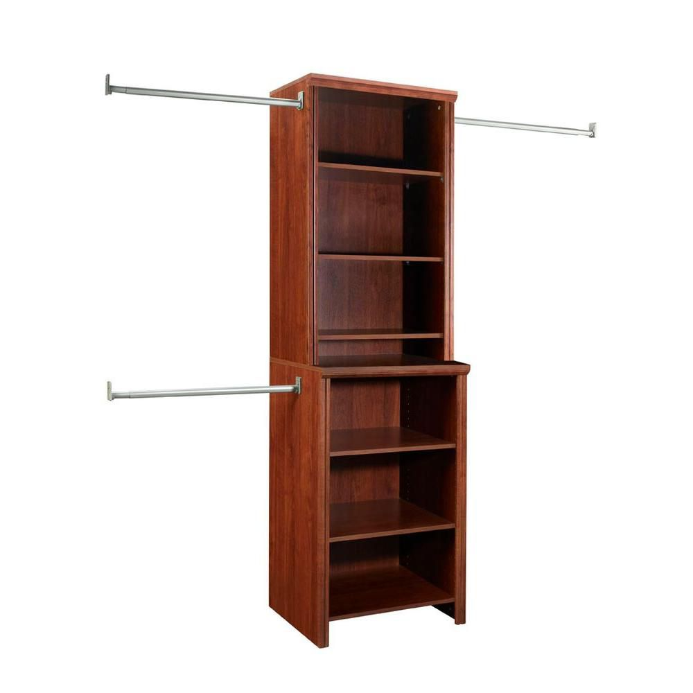 ClosetMaid Impressions 5 ft. to 10 ft. Deluxe Hutch Closet Kit in Dark Cherry