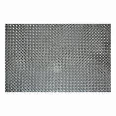 46-inch x 93-inch Grey Foam Mat