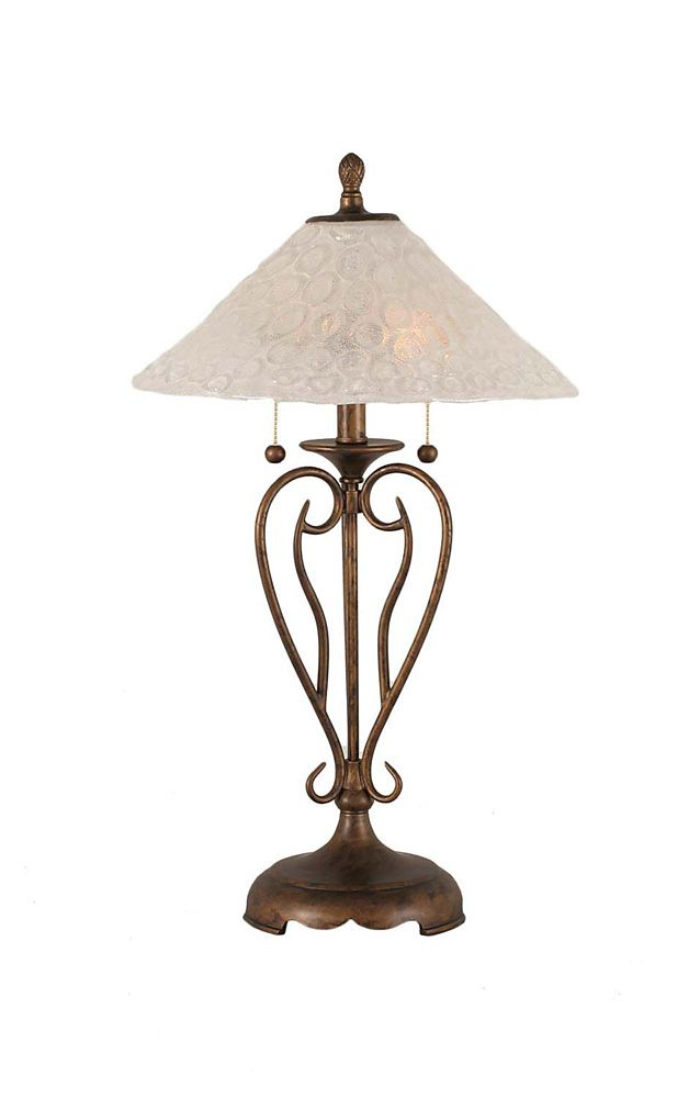 Concord 16 in Bronze Table Lamp with a Clear Crystal Glass