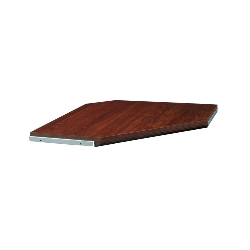 Impressions 28 -inch Dark Cherry Corner Shelf Kit with moulding