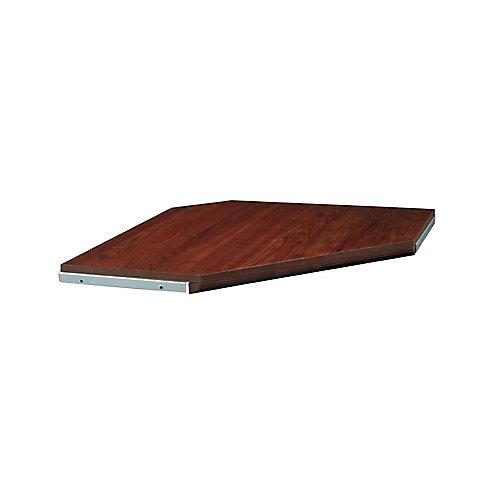 Impressions 28 -inch Dark Cherry Corner Shelf Kit with moulding