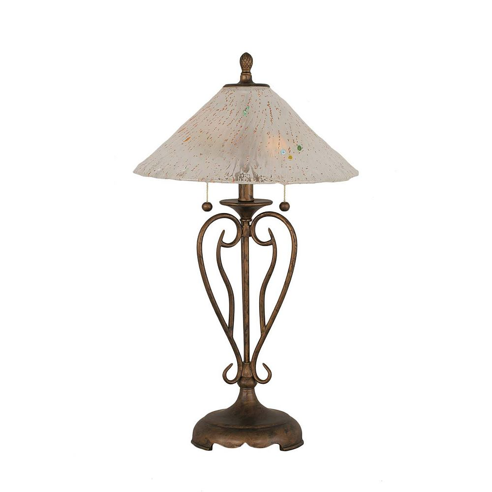 Filament Design Concord 16 en Bronze Table Lamp incandescence par une Frosted Crystal