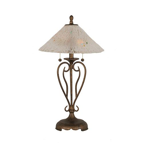 Filament Design Concord 16 in Bronze Incandescent Table Lamp with a Frosted Crystal Glass