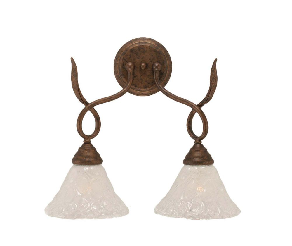 Concord 2 Light Wall Bronze Incandescent Wall Sconce with a Clear Crystal Glass