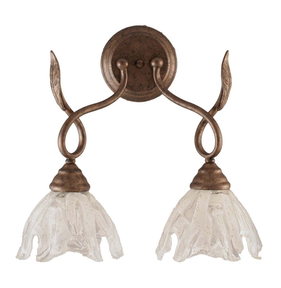 Concord 2-Light Wall Bronze Wall Sconce with a Clear Crystal Glass