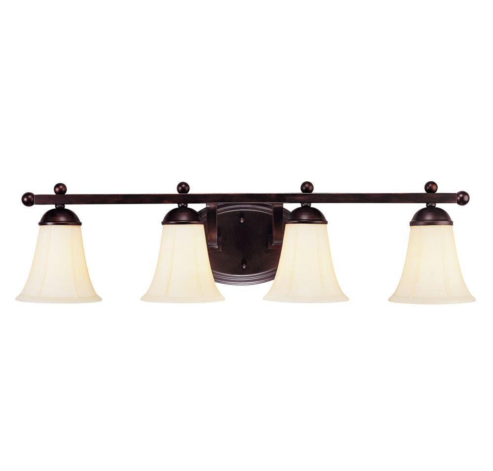 Barre d'éclairage Vanguard pour salle de bain 4 lumières