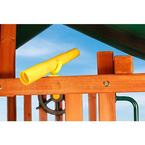 Télescope-jouet jaune avec support de fixation