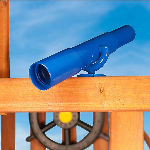 Télescope-jouet bleu avec support de fixation