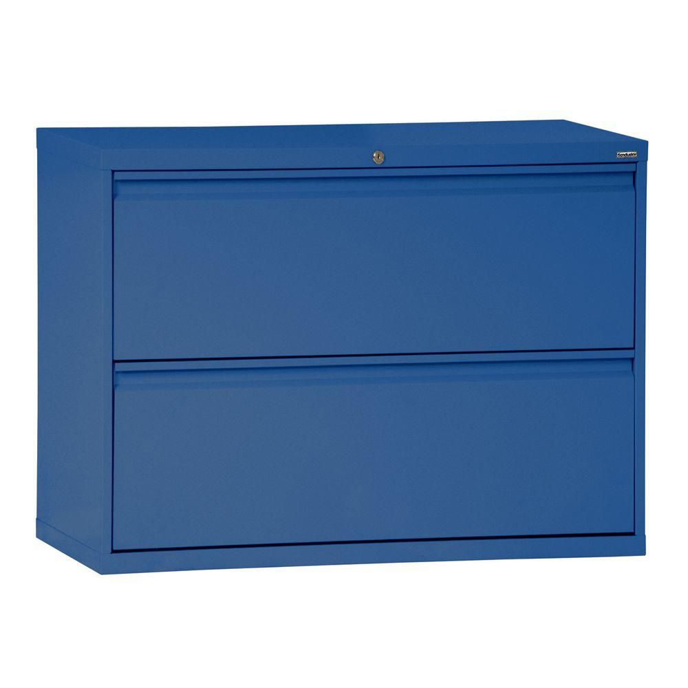 800 Series 2 Drawer Lateral File Blue Color
