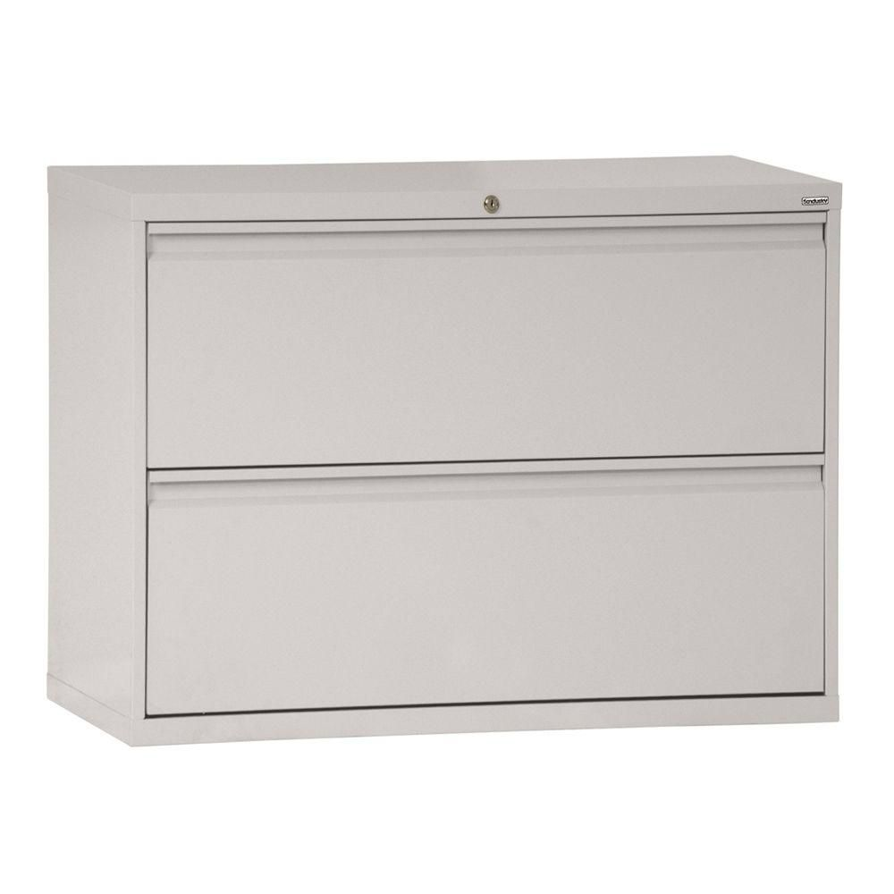 800 Series 2 Drawer Lateral File Dove Gray Color