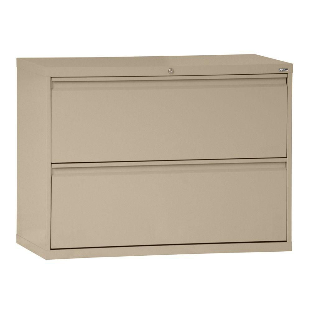 800 Series 2 Drawer Lateral File Tropic Sand Color