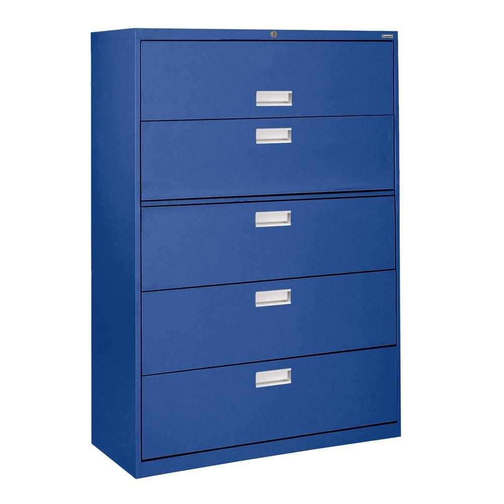600 Series 5 tiroirs Classeur latéral Couleur Bleu