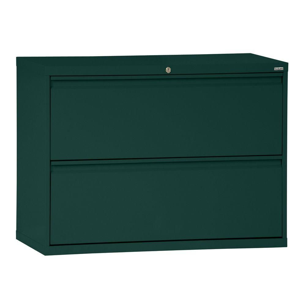 800 Series 2 Drawer Lateral File Forest Green Color